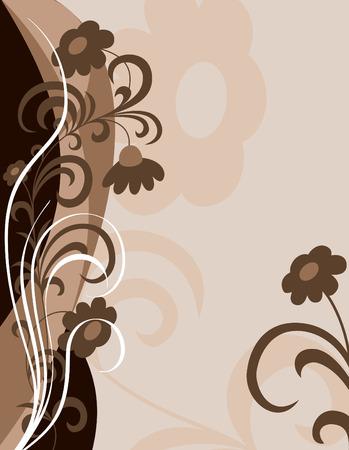 Floral Background  Abstract Illustration  Ilustração
