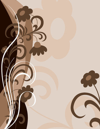 postcard: Floral Background  Abstract Illustration  Illustration
