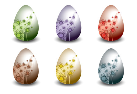 Easter Egg Design Set   Vector