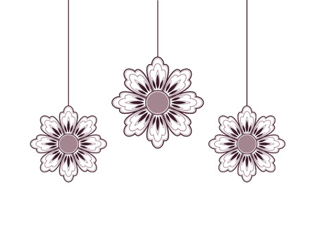 daisy wheel: Hanging flowers Illustration
