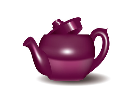 Vector Image of a teapot isolated