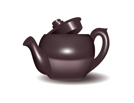mid century: Vector Image of a teapot isolated