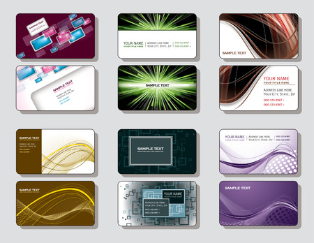 business cards: Set of Business Cards