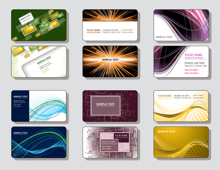 Vector Set of Business Cards   Vector