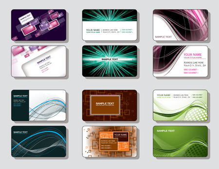 Vector Set of Business Cards