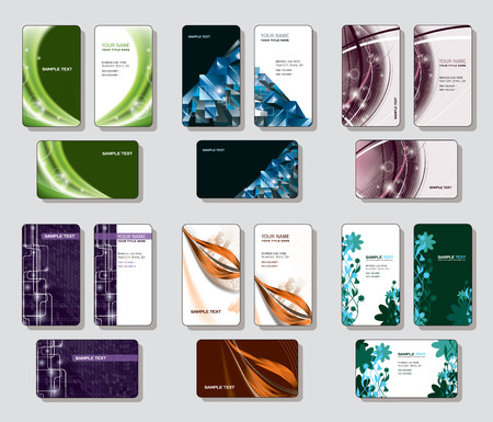 call card: Vector Set of Business Cards