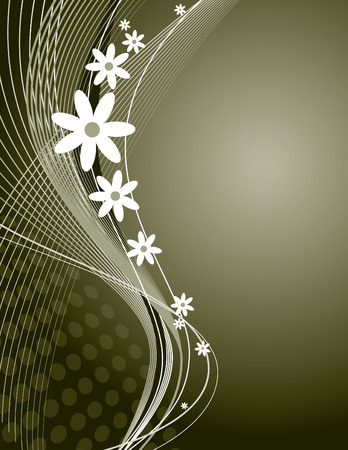 florish: Abstract Vector Floral Background  Illustration