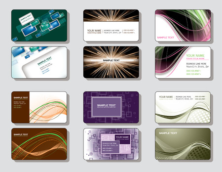 business cards: Vector Collection of Business Cards   Illustration