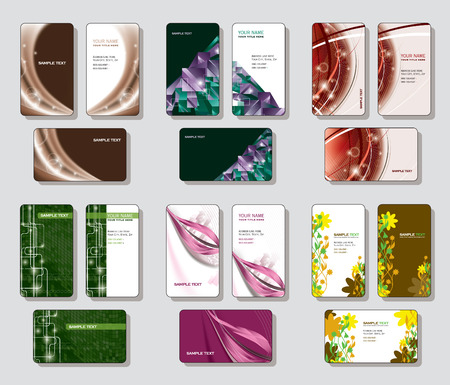Vector Collection of Business Cards   Vector