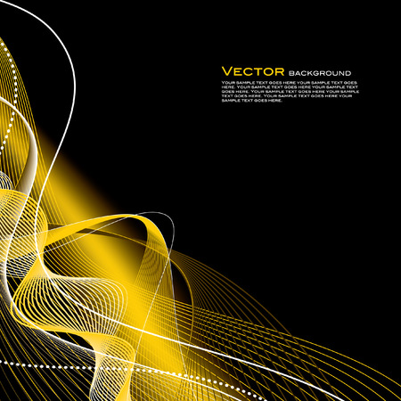 shiny black: Vector Background  Abstract Illustration