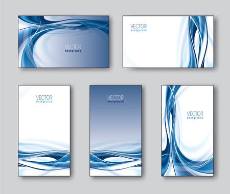 Set of Business Cards or Gift Cards  Vector Illustration  Illusztráció