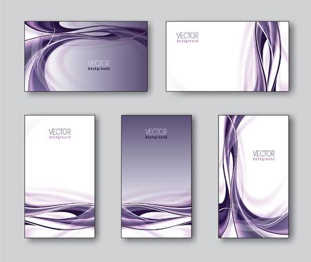 smooth background: Set of Business Cards or Gift Cards  Vector Illustration  Illustration
