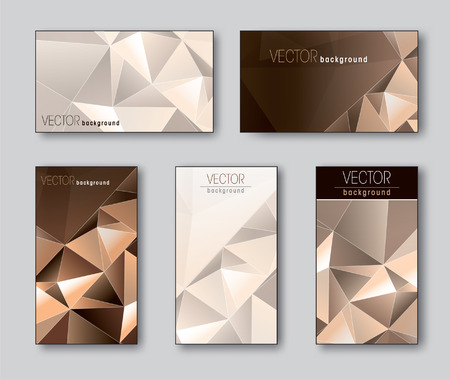 Set of Business Cards or Gift Cards  Vector Illustration  Ilustração