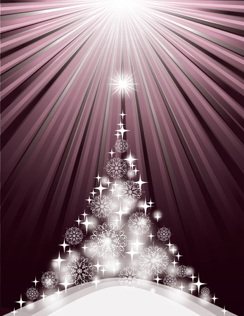 Christmas Background. Sparkling Illustration.