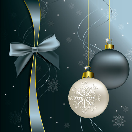 Christmas Background. Sparkling Illustration. Vector