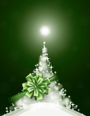 postcard background: Christmas Background. Sparkling Illustration.