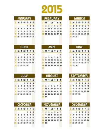 2015 Calendar. Illustration