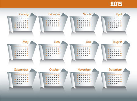 2015 Calendar. Illustration