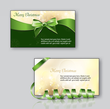 Christmas Greeting Cards. Vector Illustration. Vector