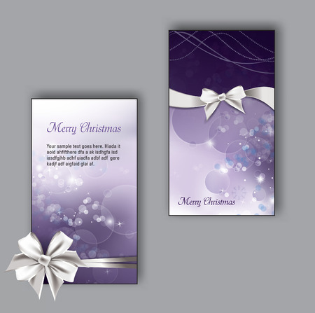 Christmas Greeting Cards. Vector Illustration.