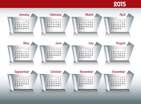 2015 Calendar. Vector Design. Vector