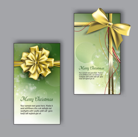 Vector Christmas Greeting Cards. Vector