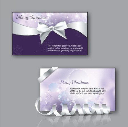 business event: Vector Christmas Greeting Cards.