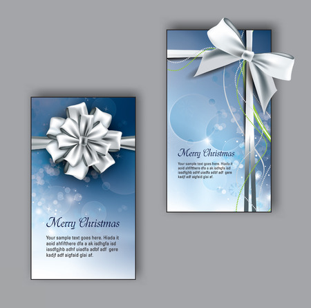 business card: Vector Christmas Greeting Cards.