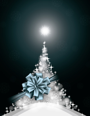 greeting: Christmas Background. Vector Greeting Card.