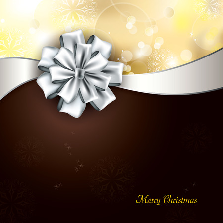 brown: Christmas Background. Vector Greeting Card.