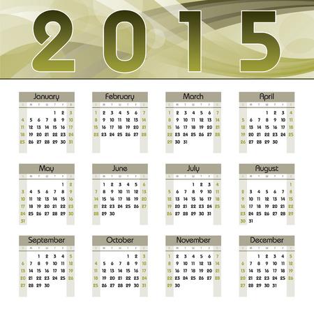 2015 Calendar. Illusztráció