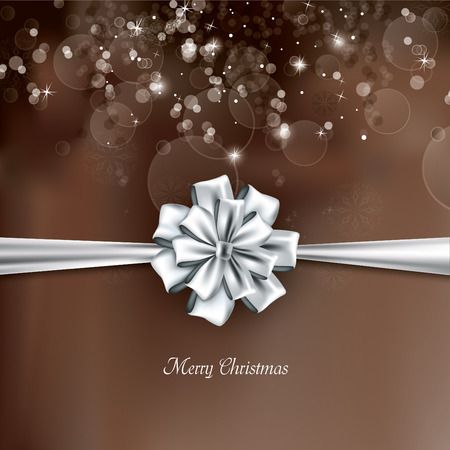 postcard background: Christmas Background with bow. Illustration