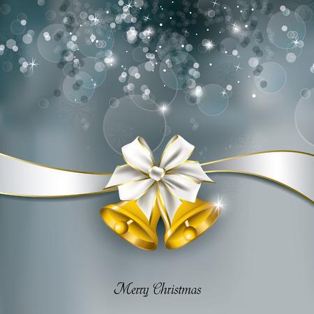 campanas de navidad: Fondo de la Navidad. Tarjeta de felicitación.