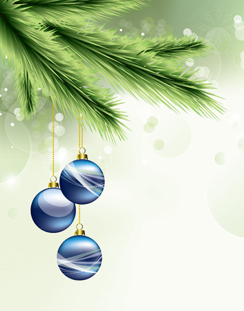 Christmas Background. Greeting Card. Vector