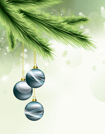 greeting card background: Christmas Background. Greeting Card. Illustration