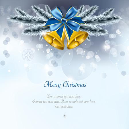 Christmas Background. Greeting Card. Ilustrace