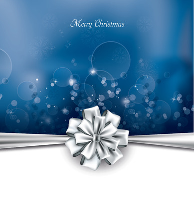 silver background: Christmas Background. Greeting Card. Illustration