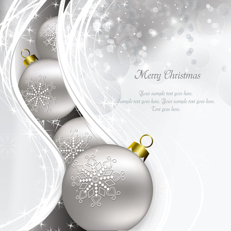 Christmas Background. Greeting Card. Illustration