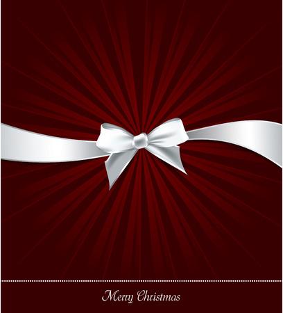 christmas bow: Christmas Background. Greeting Card. Illustration