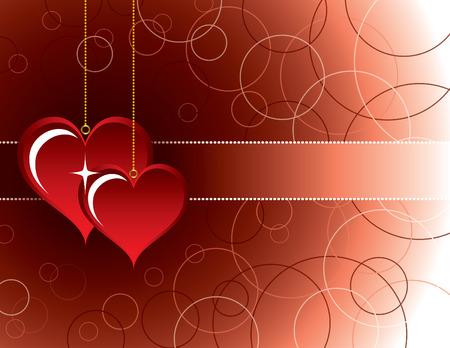 romance: Hearts. Valentines Day Background.