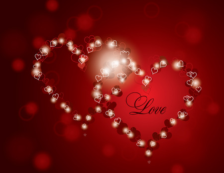 Hearts. Valentines Day Background.