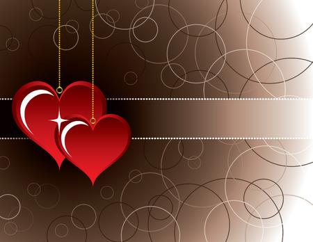 Hearts. Valentines Background.