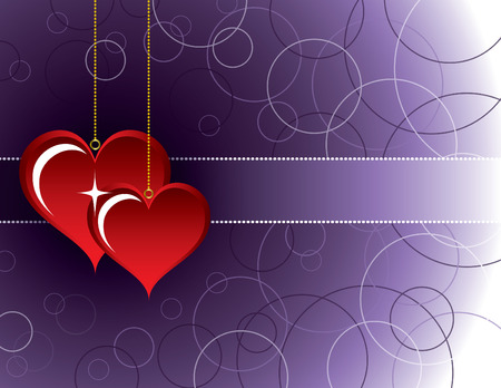 Valentines Day Background. Two Hearts.