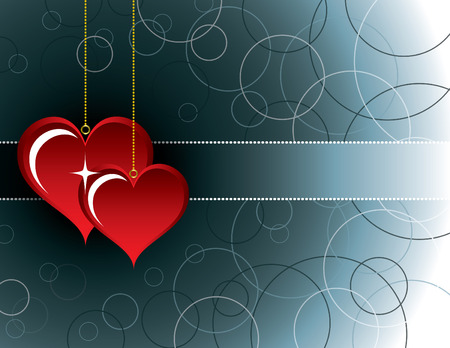 two hearts: Valentines Day Background. Two Hearts.