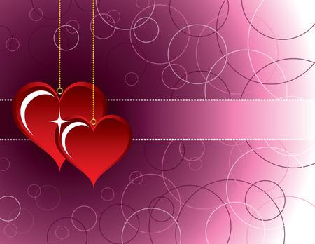 Valentine Hearts. Иллюстрация
