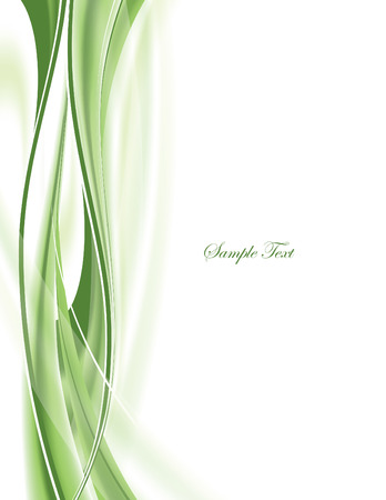 green swirl: Abstract Vector Background. Illustration