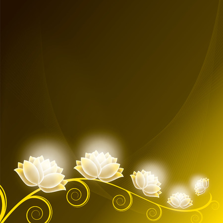 Beautiful Floral Background with Shiny Flowers. Vector