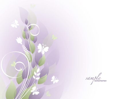 Vector Flowers and Butterflies. Abstract Background. Vector