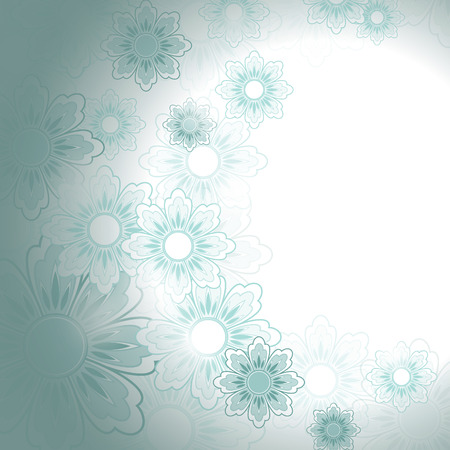 turquoise swirl: Abstract Vector Floral Background. Illustration