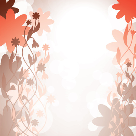 red swirls: Abstract Vector Floral Background. Illustration